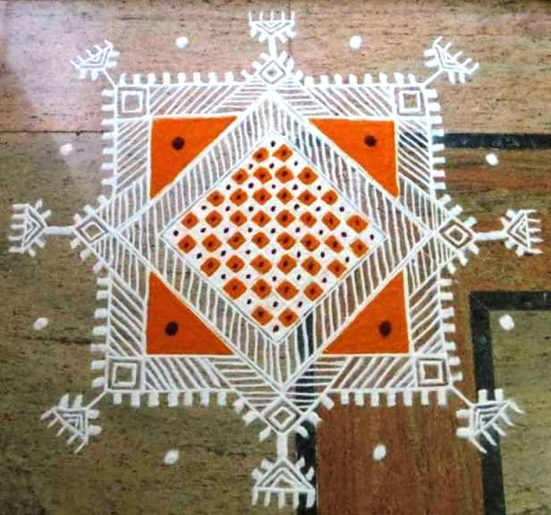 Another mandana style kolam for your views.
