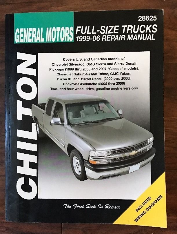 Chilton Repair Manual Chevrolet Full-size Trucks SUVs 1999-06 #28625  | eBay