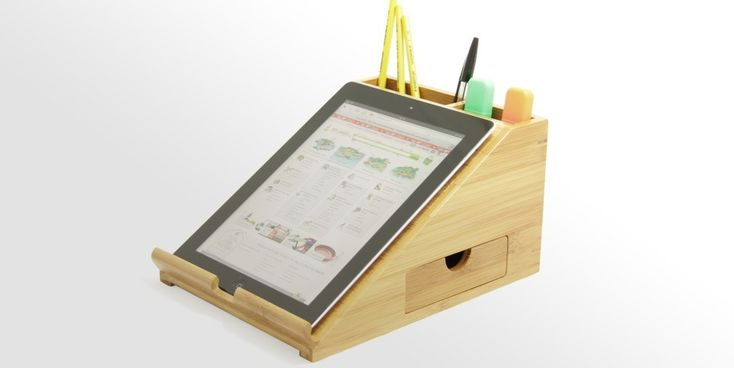 iPad Stand, Desk Organiser | Bamboo Office Supplies