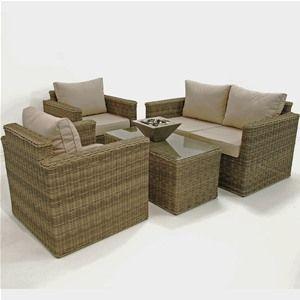 Maze Rattan Winchester Square Garden Sofa Set