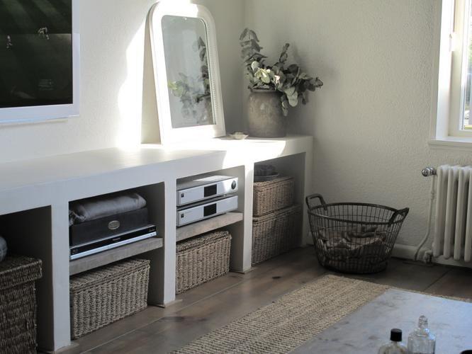 Maken TV meubel langs een rechte wand