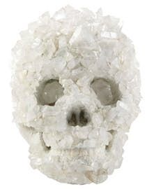 Hecate Crystal Skull, 8h  Contemporary, Transitional, Concrete, Stone, Decorative Object by Curated Kravet