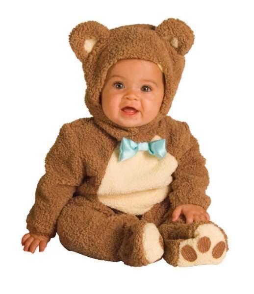 Забавные вязанные костюмы для малышей