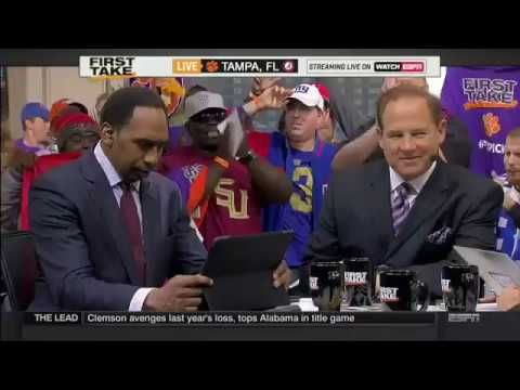 Ex LSU HC Les Miles On ESPN First Take With Steven A. Smith And Max Kellerman.