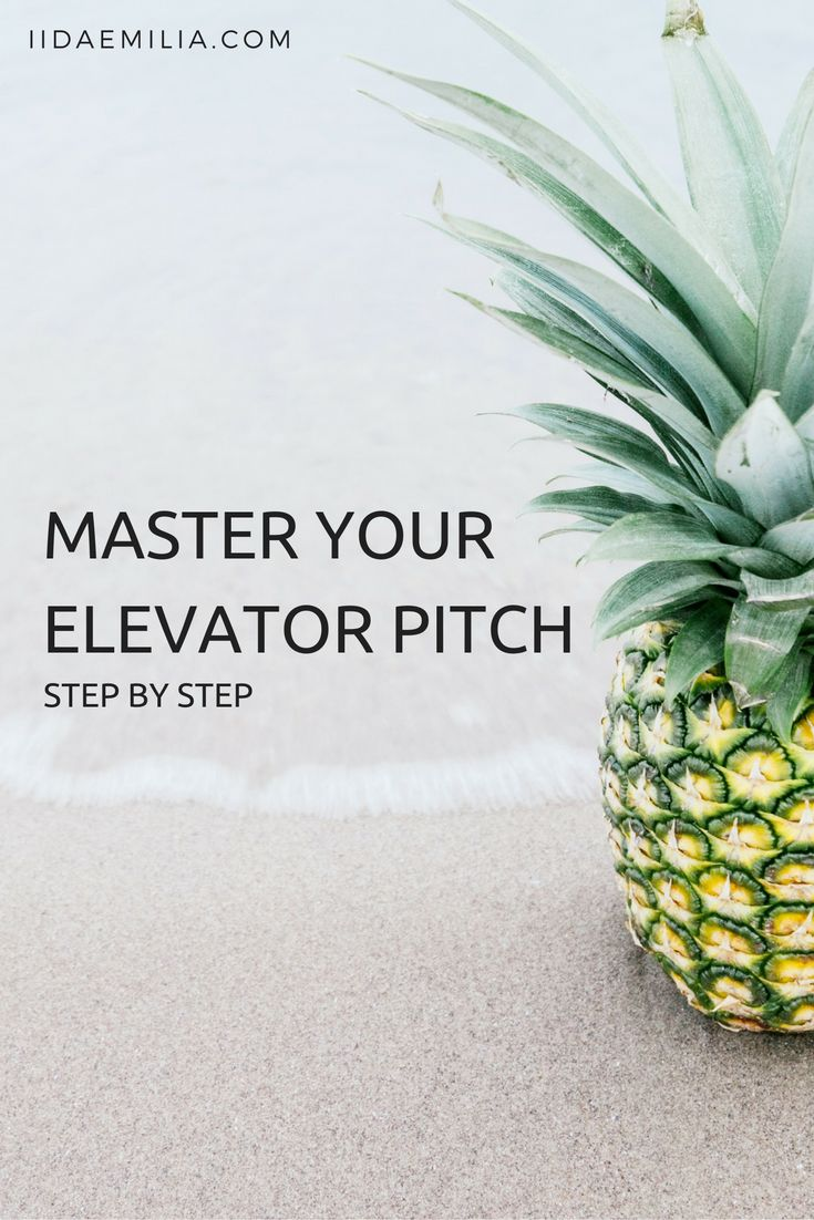 Master your elevator pitch with this step by step guide