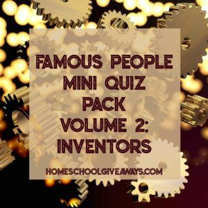 FREE Famous People Mini Quiz Pack Volume 2 – Inventors. What do George Stephenson, Matthias William Baldwin, Richard Trevithick, and Peter Cooper all have in common? They were all inventors whose inventions changed the way we live our lives and do our work today. But what did they invent, and why? Learn about these men, their inventions, and what the world was like in their day with this mini quiz pack that is perfect for upper middle school and high school students.