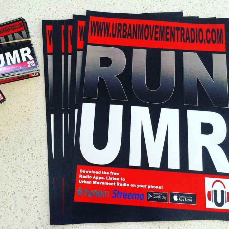 """Printing done! #urbanmovement #teamUM #djlife #poster @urbanmovementoz"""