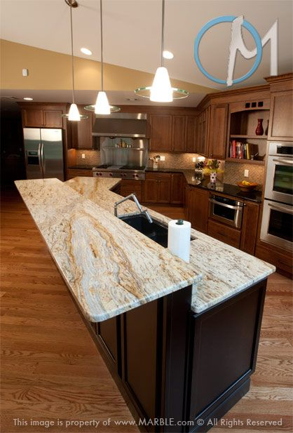 Awesome Colonial Gold Granite In Kitchen Photo Gallery.