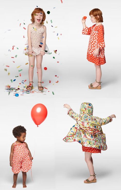 Stella McCartney's new spring collection for kids. Love the styling.