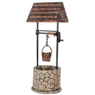 Enhance The Magical Elements Of Your Garden With Polystone Metal U0026 Stone  Wishing Well. Featuring
