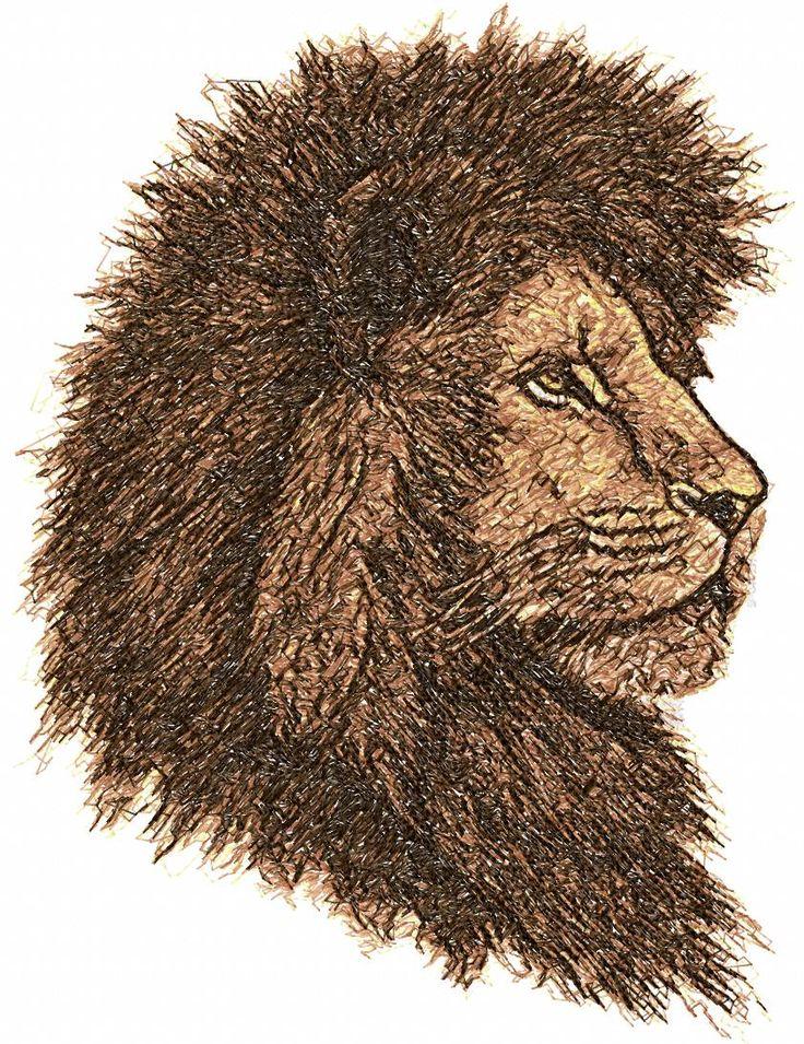 Lion photo stitch free embroidery design - Photo stitch ...