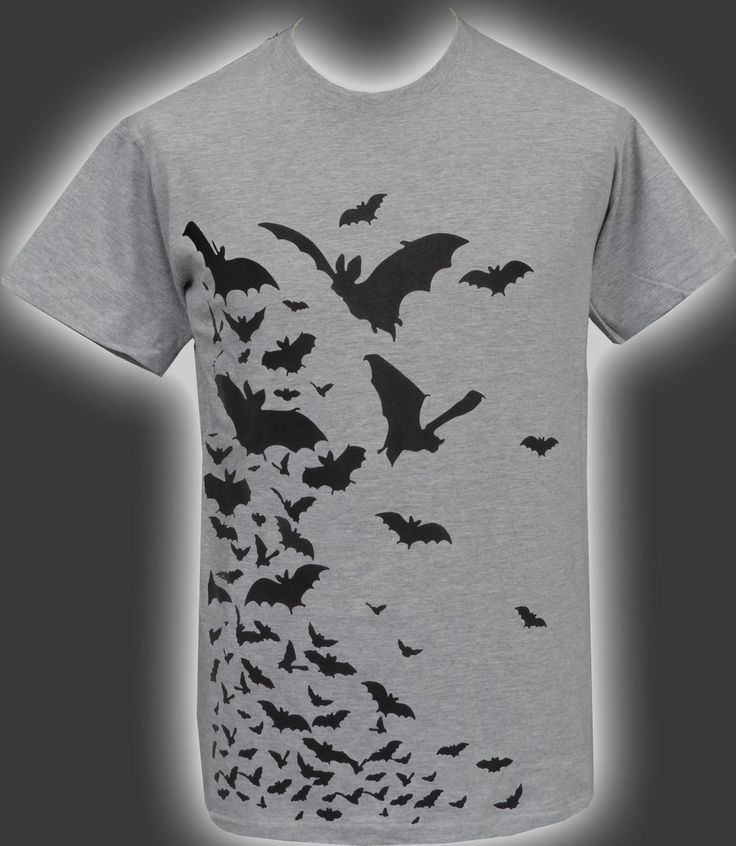 FLOCK OF VAMPIRE BATS! WANT THIS PRINTED ON A DIFFERENT GARMENT AND YOU DON'T SEE IT LISTED?. (LIKE A SWEATSHIRT OR DRESS ETC). • Fine Knit Gauge For Enhanced. Softer Feel & Cleaner Printing Process. | eBay!