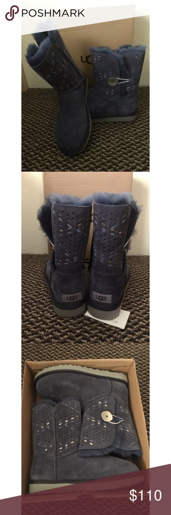 UGG Bailey Button NWT and will ship with box. Size 8 in women's. Feel free to ask me any questions regarding the item (not the price) in my comment section below ☺️ NO TRADES! UGG Shoes Ankle Boots & Booties