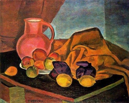 Bohumil Kubišta Zátiší s citrony 1909