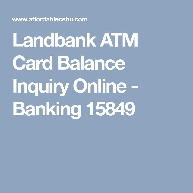 Landbank ATM Card Balance Inquiry Online - Banking 15849