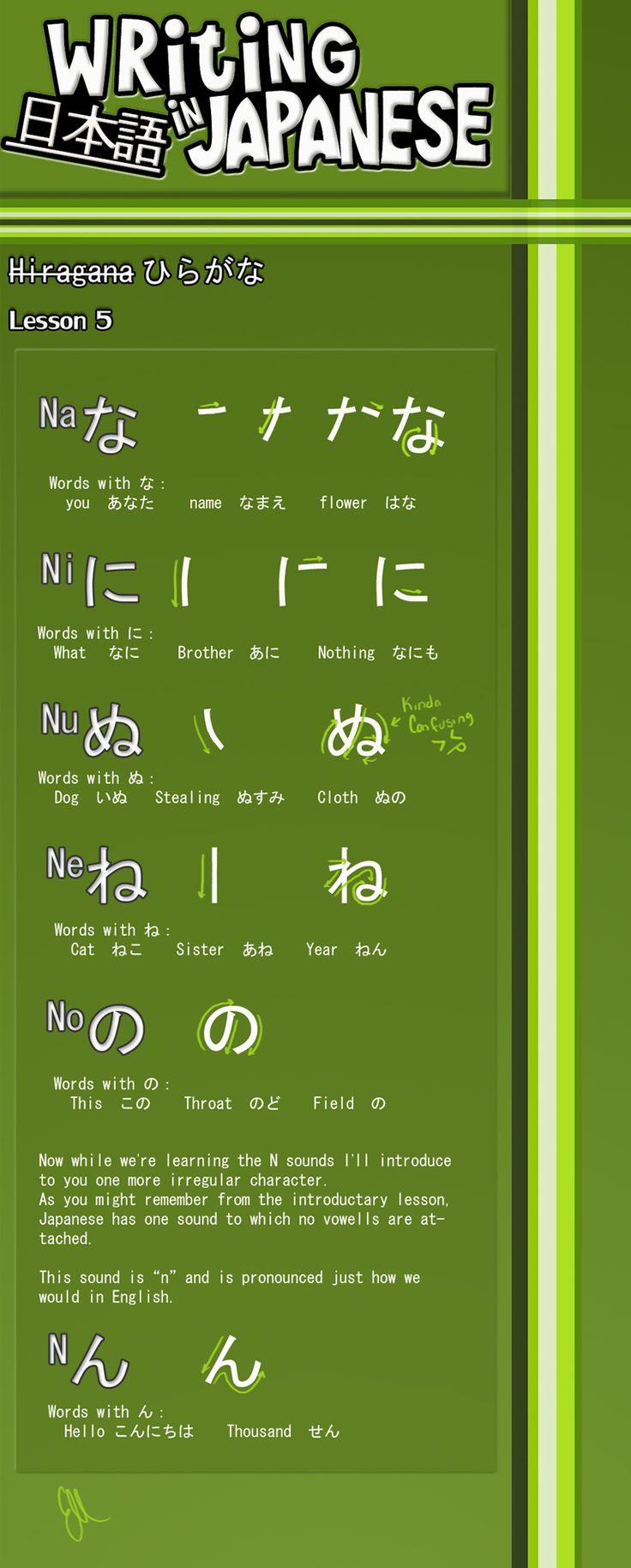 Writing Japanese – Lesson 5