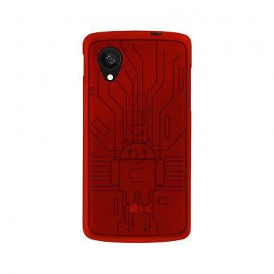 Funda Nexus 5 - Cruzerlite Bugdroid Circuit Case - Red