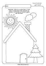 Domček - geometrické tvary