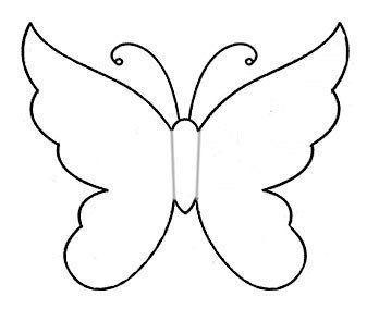 Best 25 moldes de mariposas ideas on pinterest d papel - Plantillas de mariposas ...