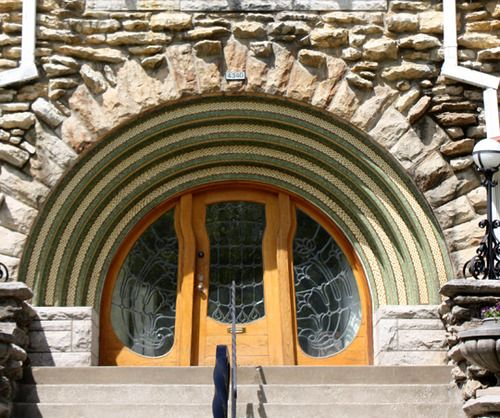A Really Rad Rounded Front Door
