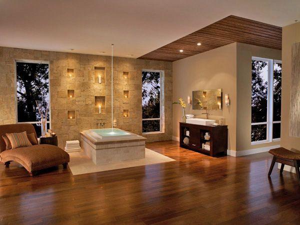 27 besten Beleuchtung im Bad Bilder auf Pinterest Beleuchtung - freistehende badewanne schlafzimmer