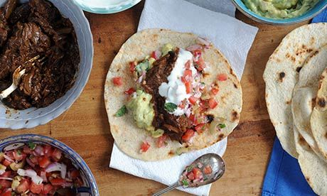 Have a friend standing by to help you create these tasty tortillas. Photograph: Jill Mead for The Guardian