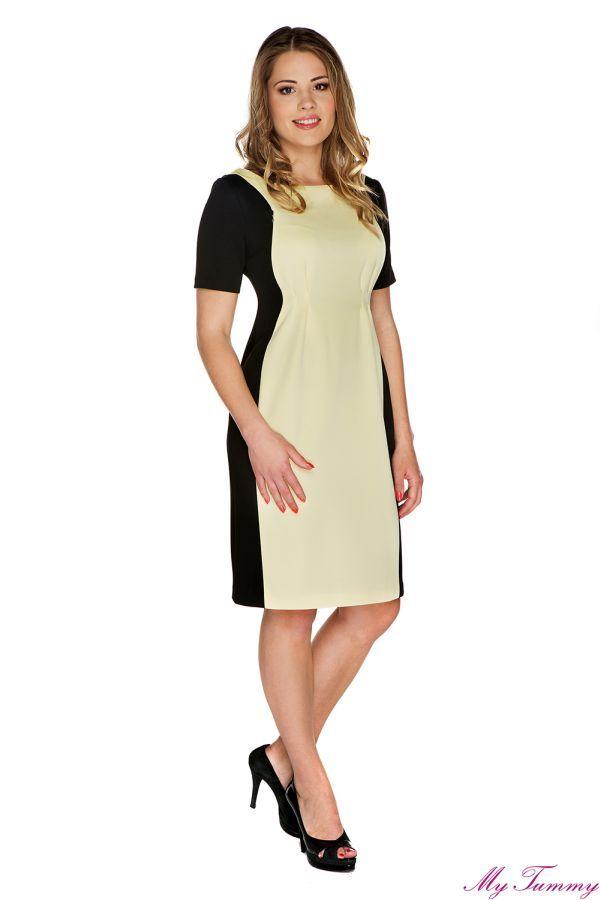Sukienka ciążowa Adele żółta