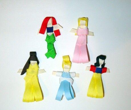 Disney princess hair ribbons...too cute for the nieces!
