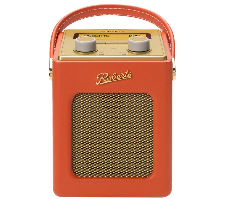 ROBERTS  Revival Mini Portable DAB Radio - Sunburst Orange & Gold, Orange Price: £ 139.99 Spread the good tunes with the Roberts Revival Mini Portable DAB+ Radio in sunburst orange and gold and let your music follow you wherever you go. Retro's never sounded so good This cute and compact radio caters for DAB, DAB+ and FM radio tuning so you can easily pick up on your favourite station. With a...