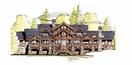Timber Frame House Plan of MossCreek Designs Elevation