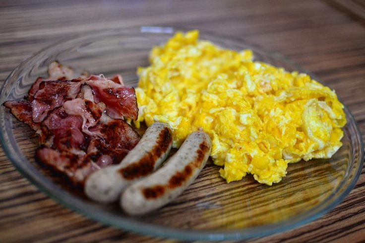 Bacon eggs and sausage
