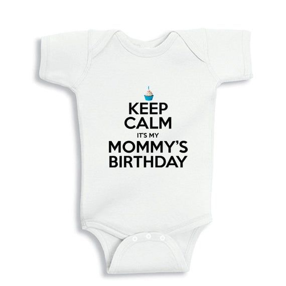 Happy Birthday Mummy Personalized Long Sleeve Baby Vests Bodysuits Boys