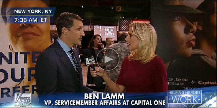 Ben Lamm - Capital One - Fox & Friends interview - Cheryl Casone - Hiring our Heroes - 69th Regiment Armory NYC - Mar '14