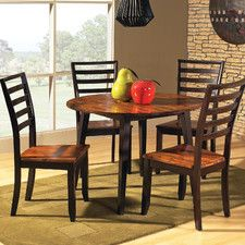 Kitchen and Dining Sets - Shape: Round, Pieces in Set: 5 Piece | Wayfair