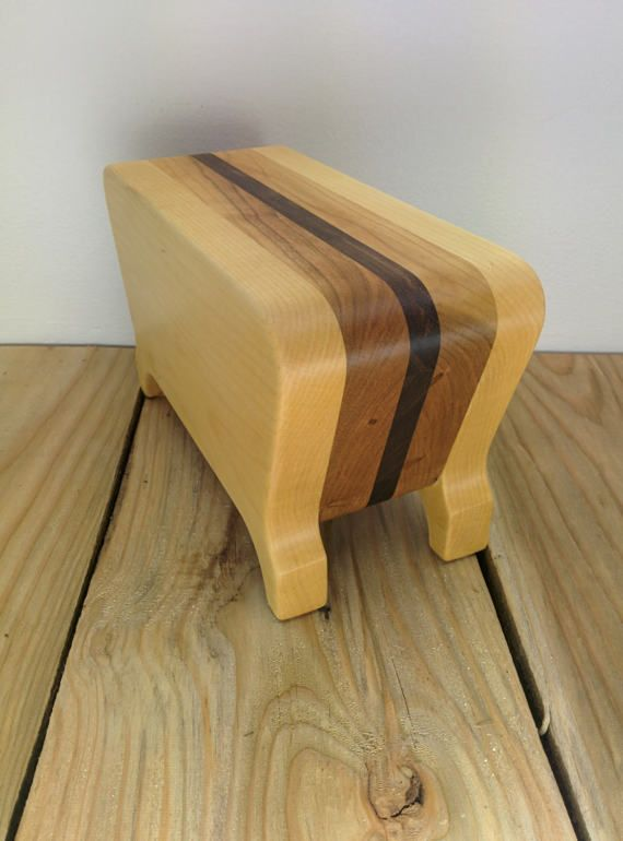 HANDMADE JEWELRY BOX with a retro look  bandsaw box  desk