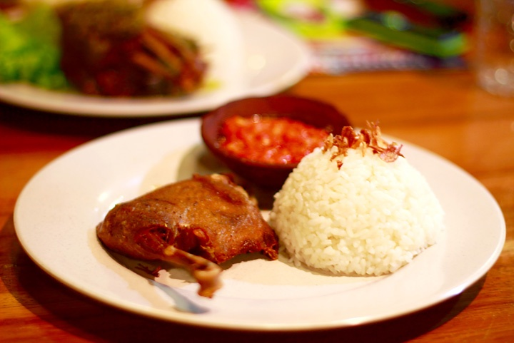 Indonesian fried duck