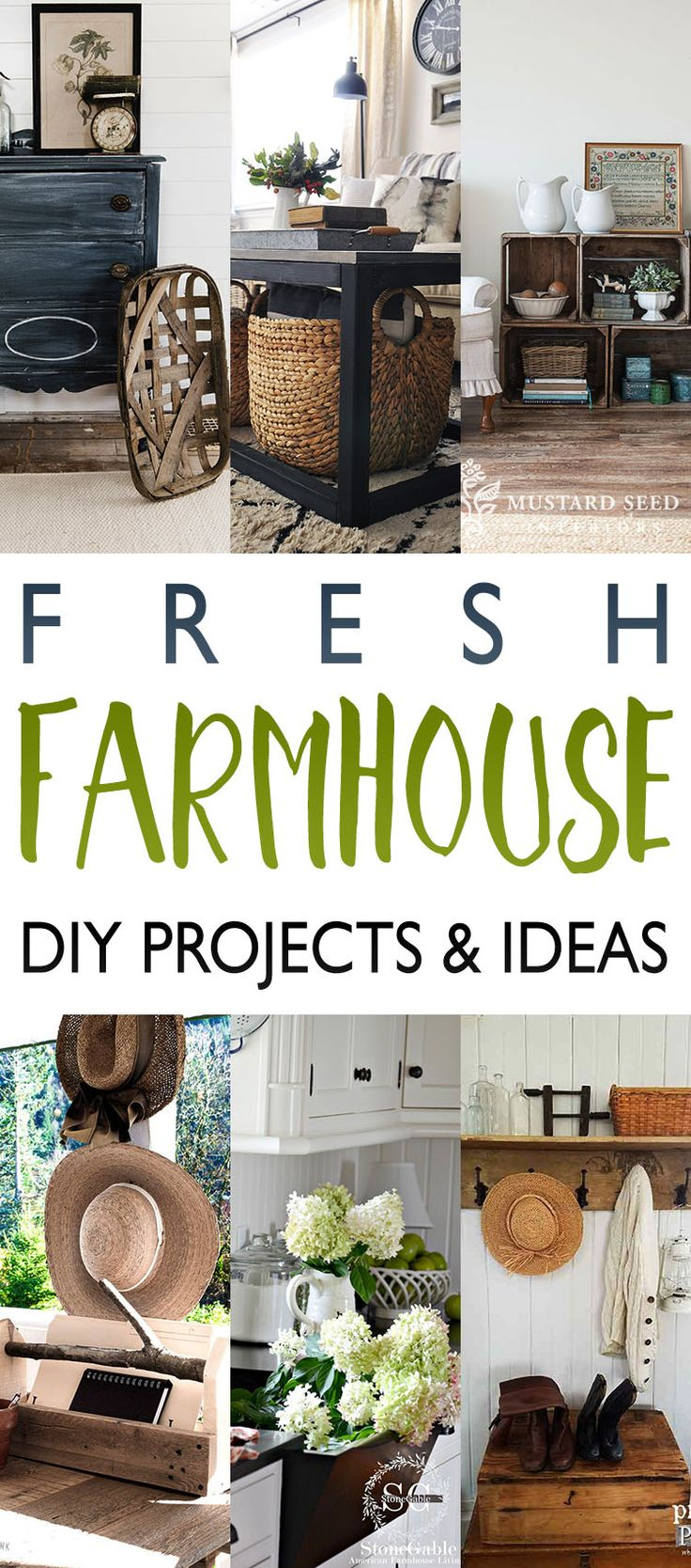With all of the Holiday Posts I thought we would take a little break today and shine the spot light on some Fresh Farmhouse DIY Projects and Ideas.  I think you are really going to enjoy these.  From an incredible Farmhouse Fresh Coat Rack to a collection of Old Crates that come together to form …
