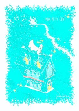 Arts Graphiques   Julie Zeitline   Mon petit chat   Tirage d'art en série limitée sur L'oeil ouvert