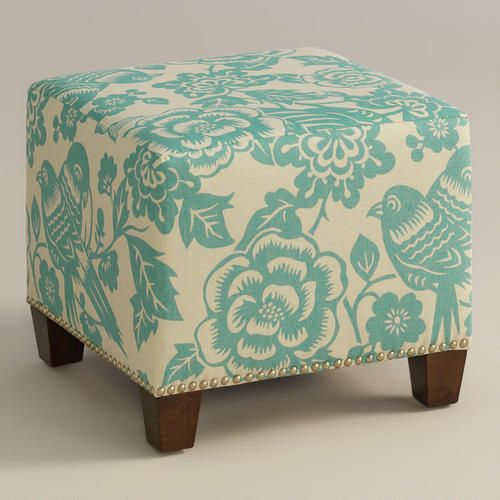 One of my favorite discoveries at WorldMarket.com: Robin Canary McKenzie Ottoman