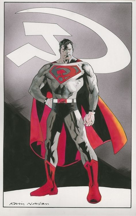 Superman: Red Son by Kevin Nowlan. You never see Superman: Red Son art and I don't know why that is.