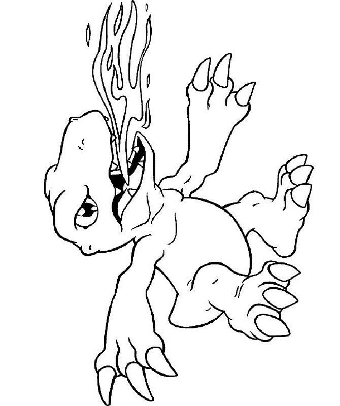 Digimon Coloring Pages 2