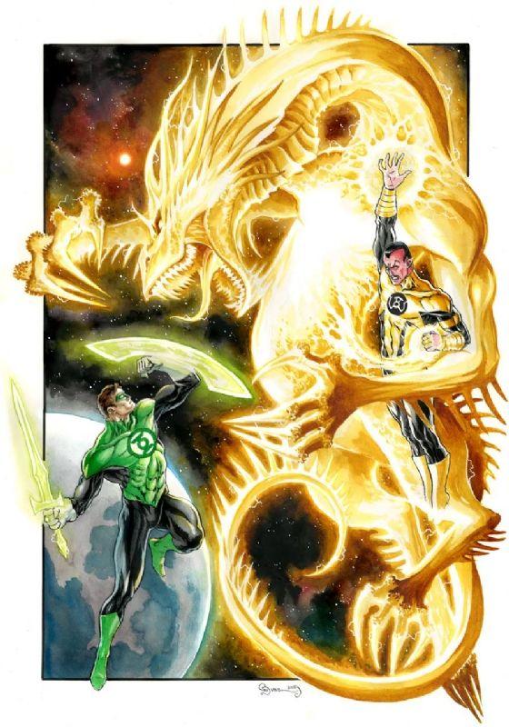 Hal Jordan vs Sinestro