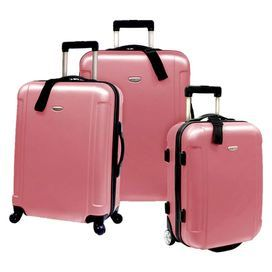 3-Piece Paloma Rolling Suitcase Set in Dusty Rose