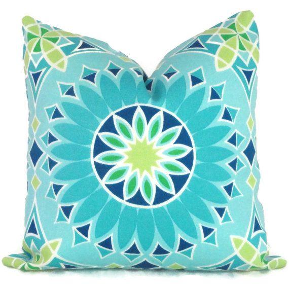 Trina Turk LA Soleil Designer Indoor Outdoor Decorative Pillow Cover, Schumacher, 18x18, 20x20,22x22