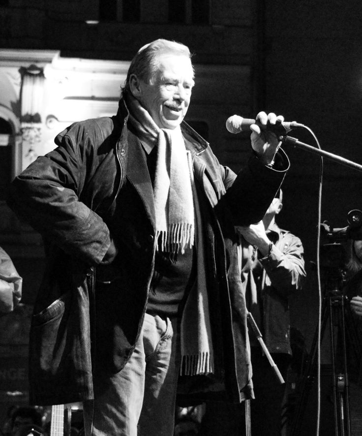 Vaclav Havel leading the Velvet Revolution, Czechoslovakia