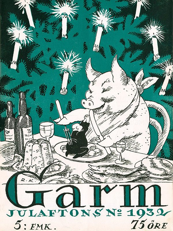 Rudolf Koivu's illustrations in Garm magazine.