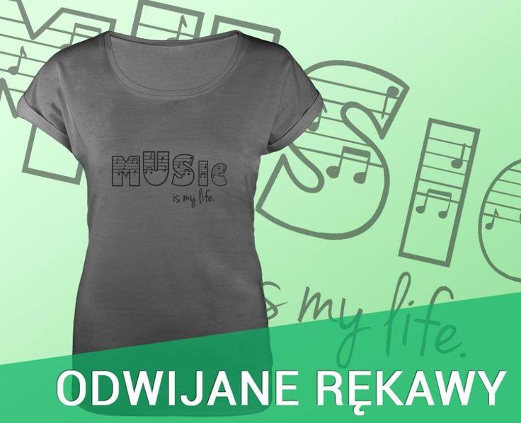 NOWA Koszulka szara damska z nadrukiem T-shirt S