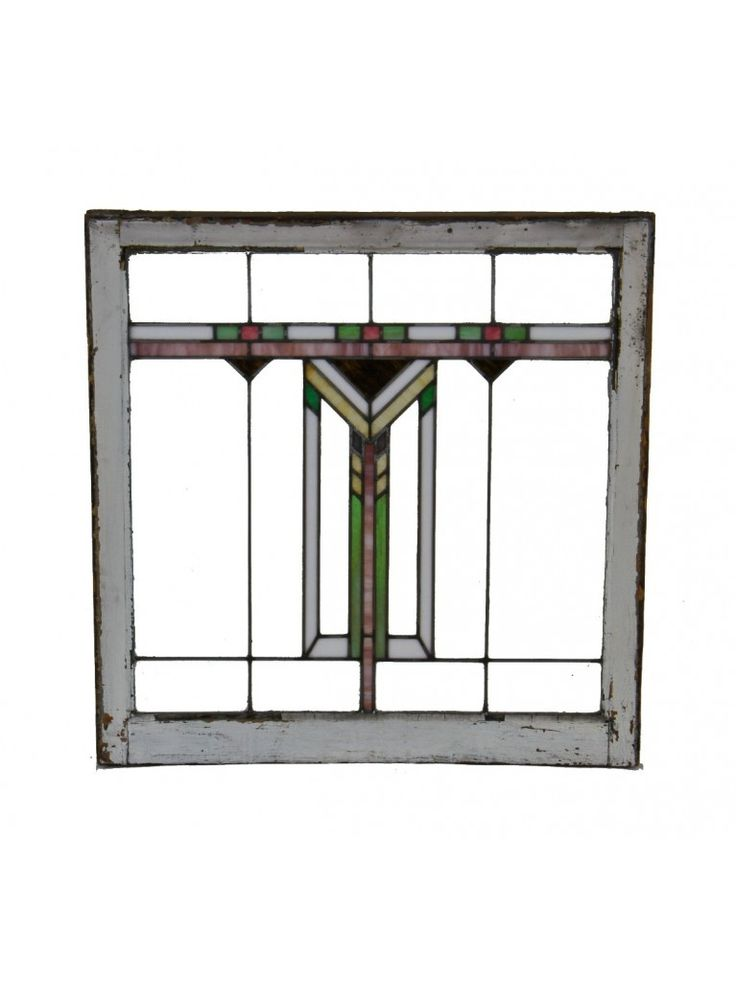 frank lloyd wright stained glass   c. 1910-15 original american prairie school style ...