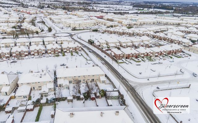Aerial photographs of hurricane Emma from above Swords. Stay safe folks! #swords #hurricaneemma #stormemma