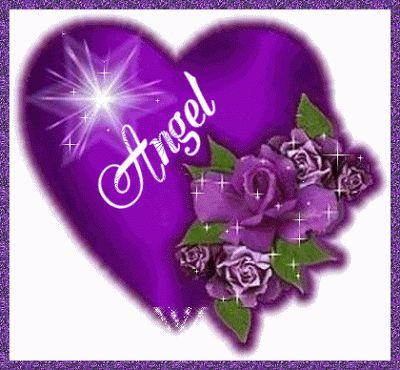 angel heart purple light sparkle | Imagenes tiernas con movimiento para facebook